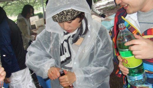 雨の日のBBQは最高に楽しく、強く思い出に残る