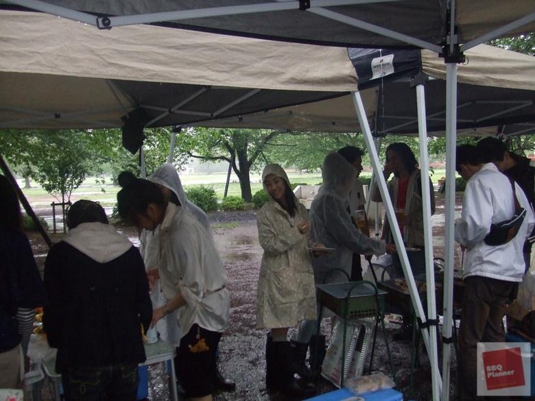 雨の日のBBQ 2