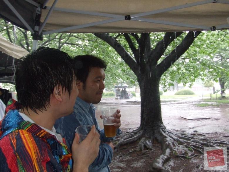 雨の日のBBQ 3