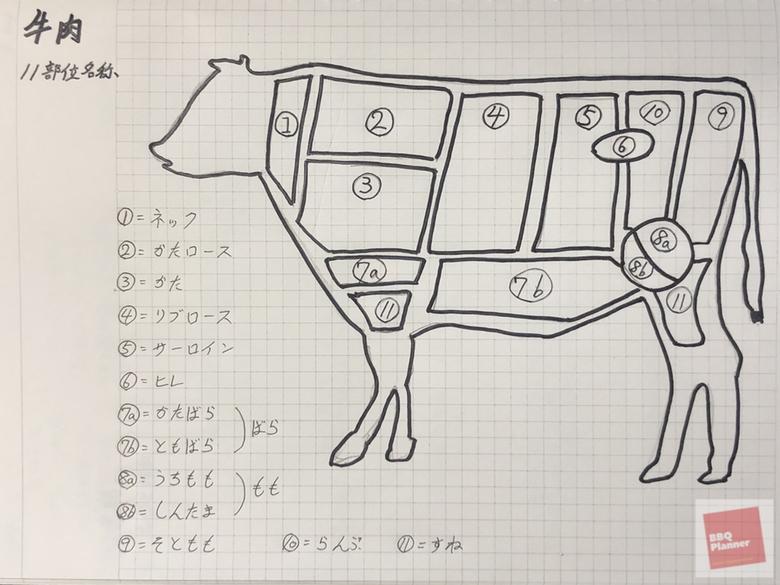 牛肉11部位名称