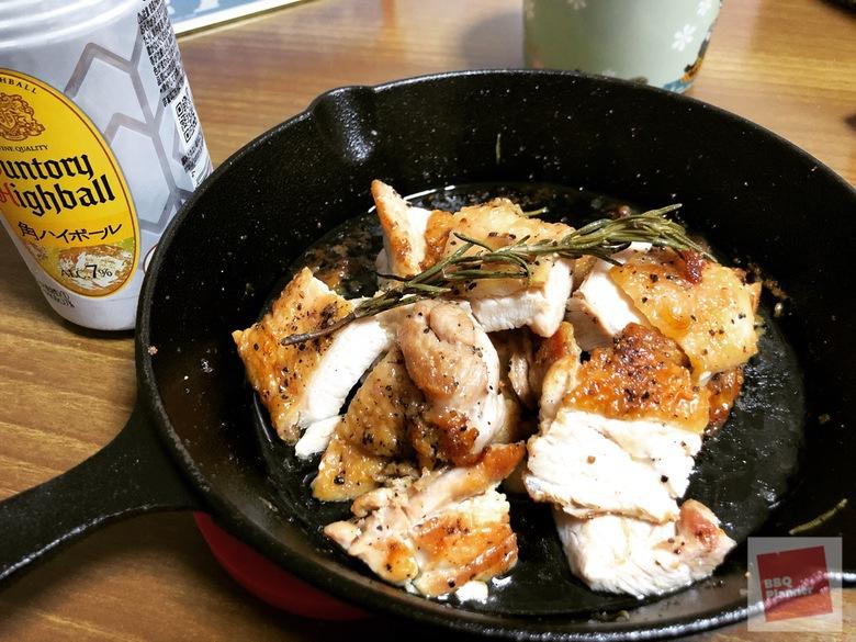 スキレットで鶏もも肉ハーブ焼き 11