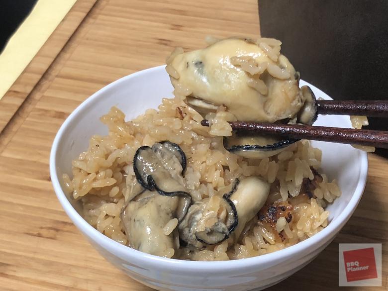 ダッチオーブンで牡蠣飯 13