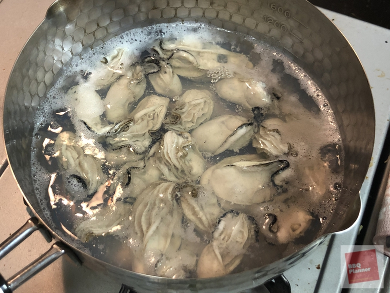 ダッチオーブンで牡蠣飯 5